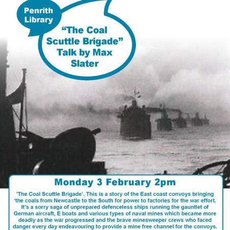 'The Coal Scuttle Brigade', a talk by Max Slater followed by a code breaking exercise.
